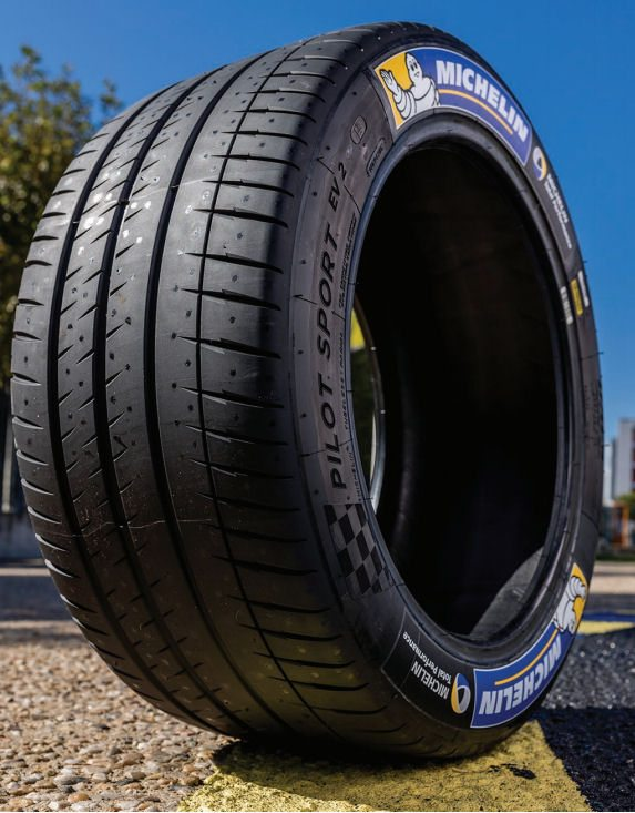 Michelin's Pilot Sport EV2 is 11% lighter per set than its predecessor, and has 16% less rolling resistance