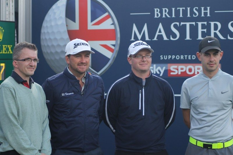 The DriveGuard Trophy winners with Graeme McDowell at the British Masters