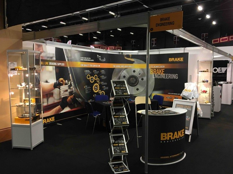 The Brake Engineering stand at Dublin's Auto Trade Expo