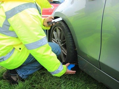 Bridgestone, First Stop survey 2,400 cars with Sigmavision TreadReader