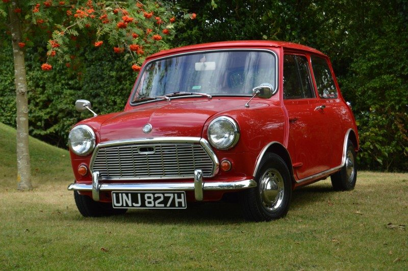 'Margo' the restored special red 1969 Morris Mini Super Deluxe