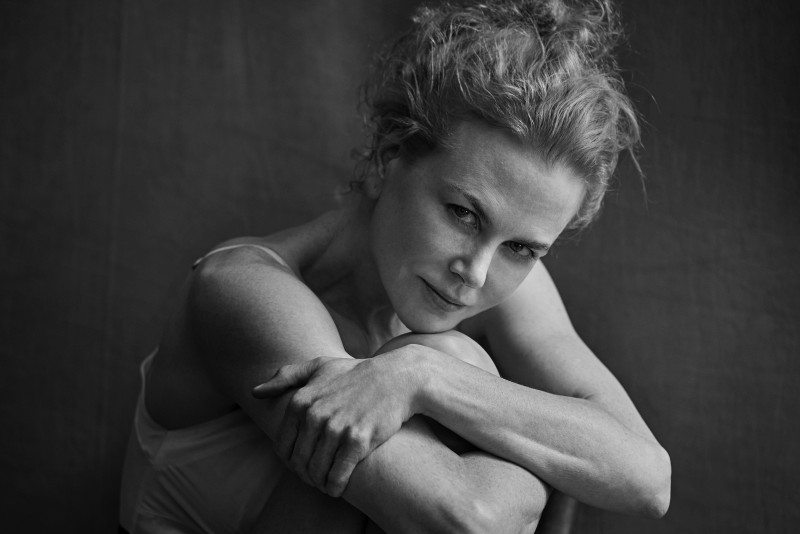 Nicole Kidman was the first actress Lindbergh photographed for the 2017 Cal