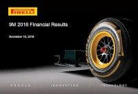 Pirelli income significantly down in first 9 months of year