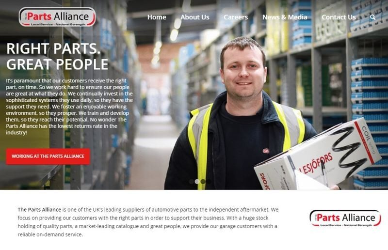 New website for The Parts Alliance