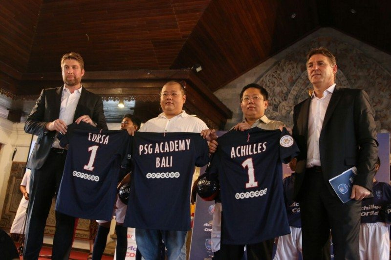 Multistrada celebrates arrival of Paris Saint-Germain Academy in Bali