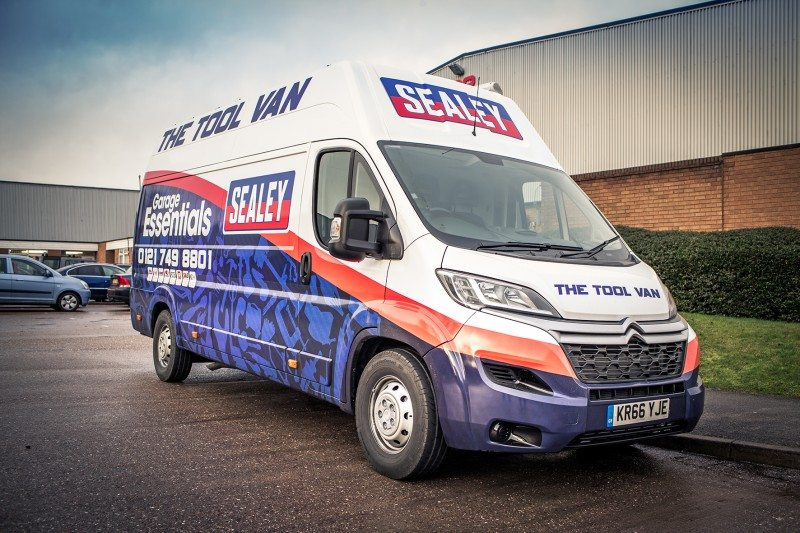 Second Sealey tool van for GSF Car Parts