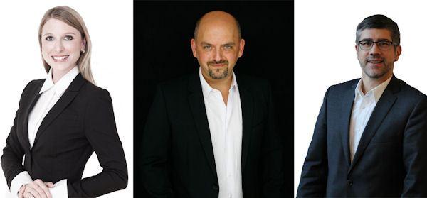 (l to r): Julia Krönlein, Christian Blazekovic and Stefan Lamp