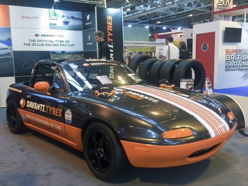 MX5 Cup entrants will carry Davanti branding and run on the brand's DX390 tyre