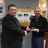 Sales award for M M Auto Services