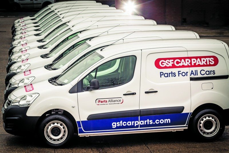 GSF Car Parts has continued to renew its fleet of vans with 12 more Peugeot Partners