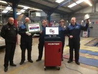 Pro-Align presents Kings Lynn's K Brown with £15k Hunter wheel alignment prize