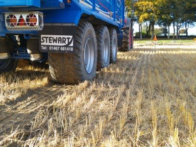 Michelin demonstrates benefits of Ultraflex tyres, central tyre inflation in Aberdeenshire