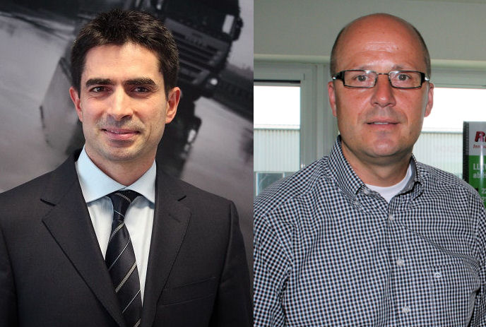 Alain Versace (l) has taken over from Ralf Schnelle as CEO of TP Industrial Deutschland GmbH
