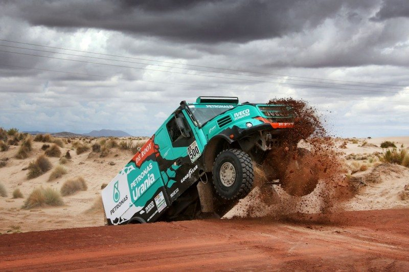 Team De Rooy race truck rode on 375/90R22.5 Goodyear ORD truck tyres