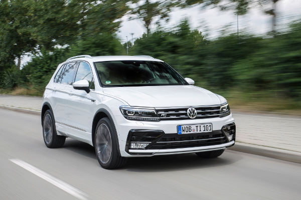 The VW Tiguan rolls out of the factory on Falken's Ziex ZE914A Ecorun