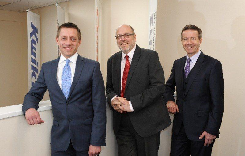 (l to r) Andy Fern, Simon Lucas and Paul Lambert