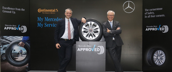 Continental selected as 'approved' Mercedes-Benz aftermarket brand in India : Tyrepress