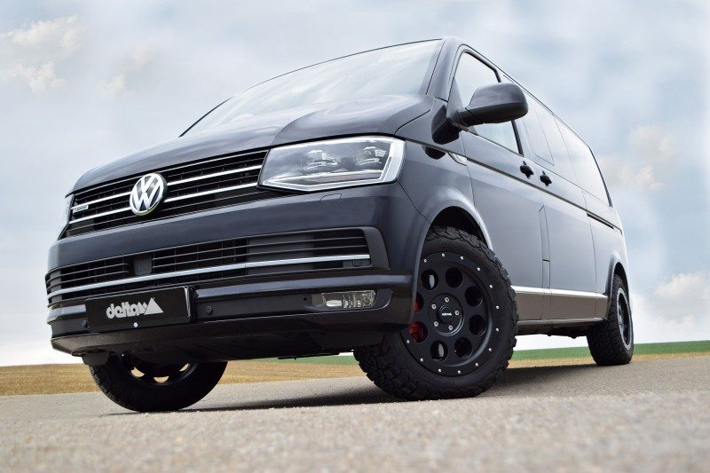 VW T6 Multivan4x4 with 18x8.5 inch aluminium wheels and 255/55 R18 tyres