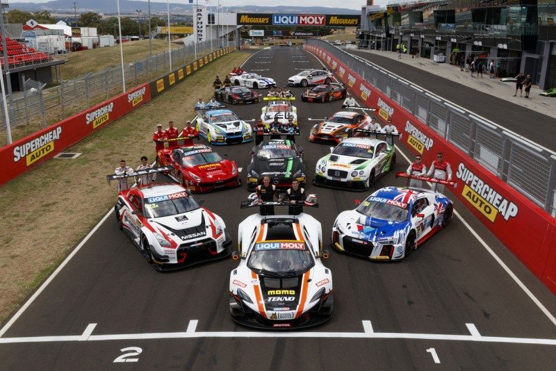 Some of the cars that will compete at Bathurst, all on Pirelli tyres