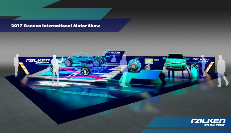 Falken's booth for its debut appearance at the Geneva International Motor Show