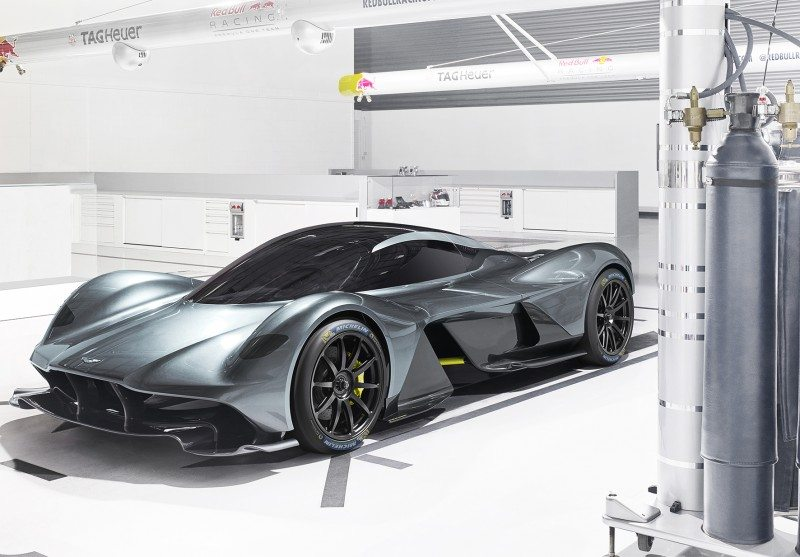The Aston Martin Valkyrie will run on 265/35ZR20 front and 325/30ZR21 rear Michelin Pilot Sport Cup 2 tyres