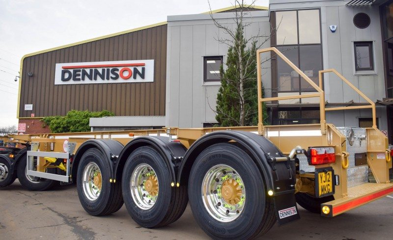 Dennison Trailers marks its 50,000th unit produced with a one-off gold trailer, fitted with Xbrite+ forged aluminium wheels