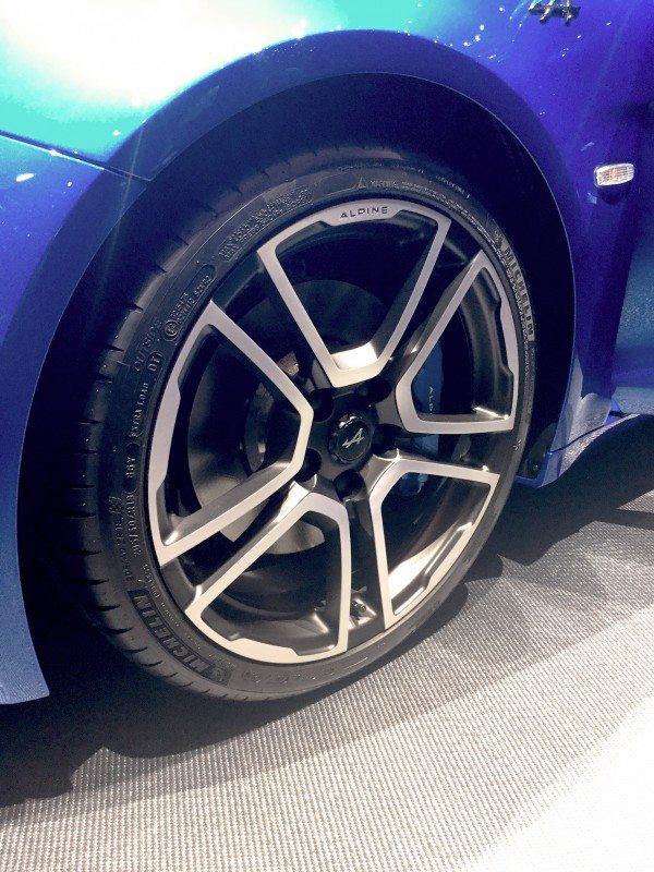 Michelin's Pilot Sport 4, Alpine A110 First Edition version is fitted with 205/40ZR18 front and 235/40ZR18 rear sizes