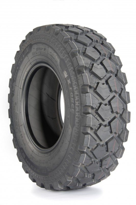 Designed for commercial vehicles with a gross vehicle weight of 7-13 tonnes, the new X Force ZL 335/80 R 20 tyres have a load capacity of 3,350kg per tyre