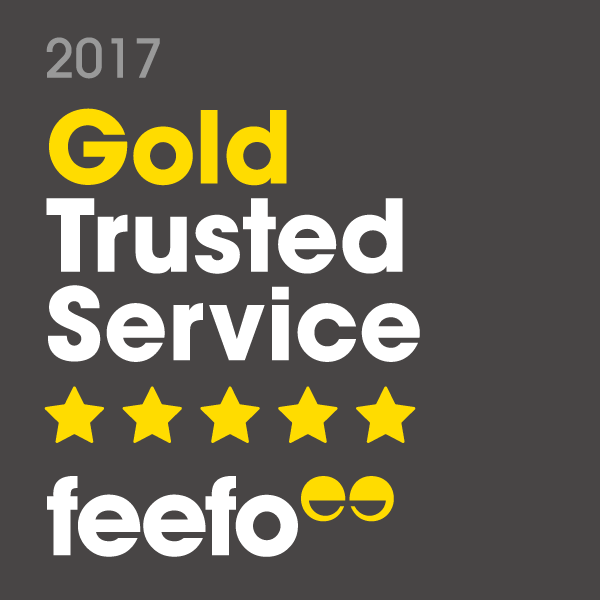 The Tyre Equipment Company has been awarded Feefo's Gold Trusted Service Award 2017