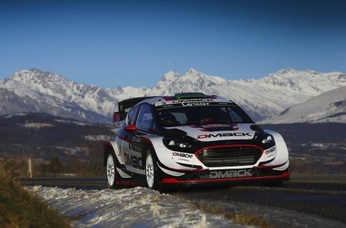Elfyn Evans and Daniel Barritt were fastest on three asphalt stages at Rallye Monte Carlo in their M-Sport World Rally Team-entered Ford Fiesta WRC