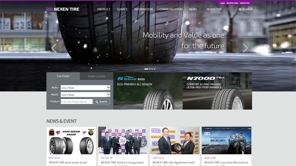 Refreshed Nexen Tire website goes live