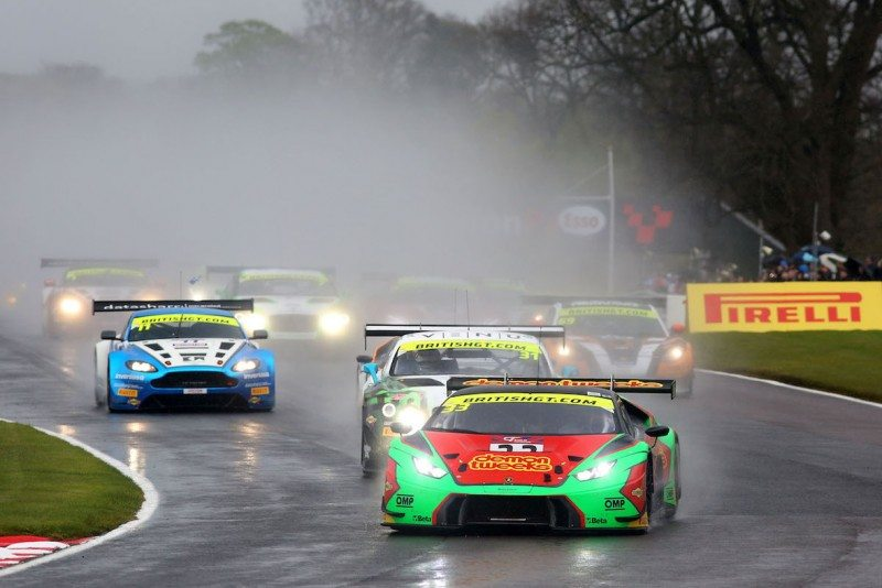 The #33 Lamborghini Huracan GT3 of Jon Minshaw and Phil Keen claimed victory in the wet
