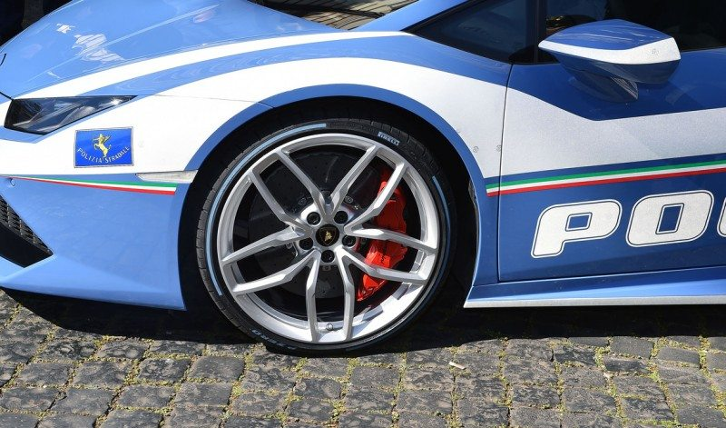 Pirelli coloured tyres debut on Italian police cars
