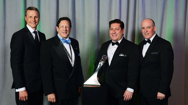 (l to r): Wade Sheffer - executive director, Chassis Purchasing at General Motors; Mike Martini - president, Original Equipment Sales, U.S and Canada, BATO; Fred Cusimano - sr. director, Global OE Sales & Account Management; and Jim Danahy - executive director, Chassis Engineering at General Motors