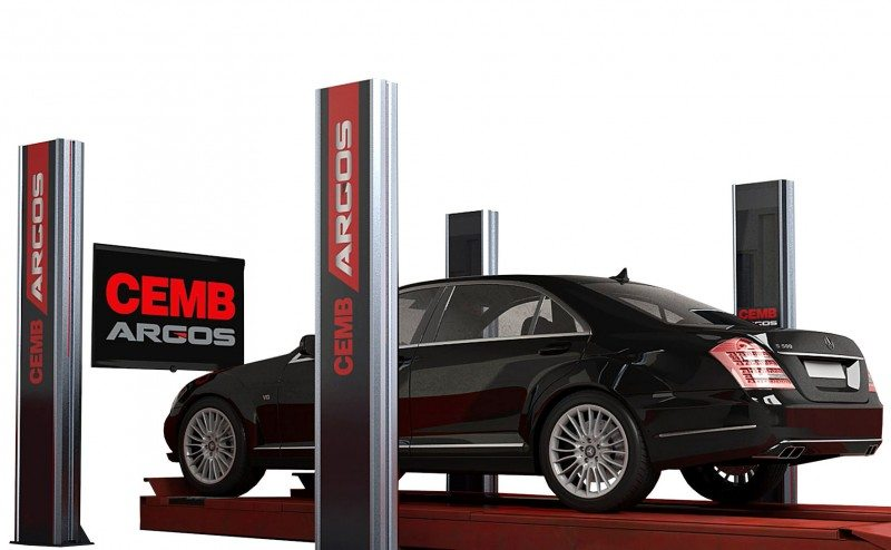 Cemb says the Argos can reliably measure wheel geometry in just five seconds