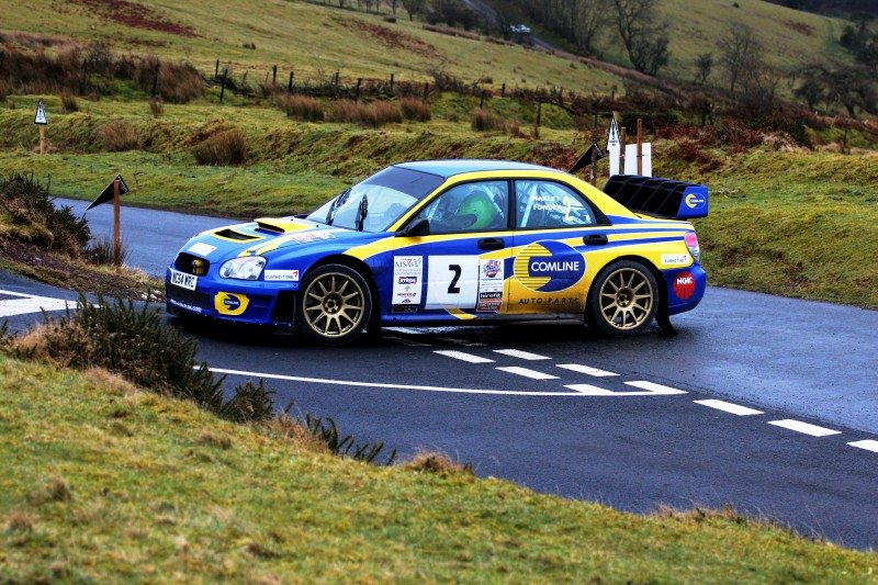 The Comline sponsored Bob Fowden Motorsport Subaru Impreza S11 rally car will be on display on stand 19B94