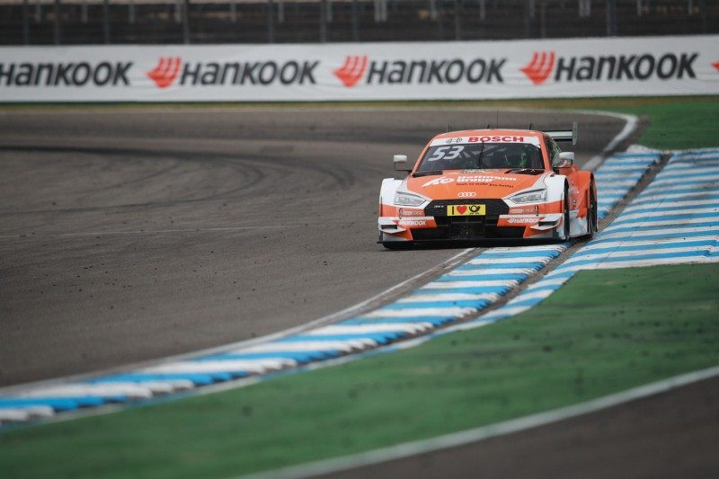 Jamie Green drove his Audi RS 5 DTM to victory in the second race of the season yesterday