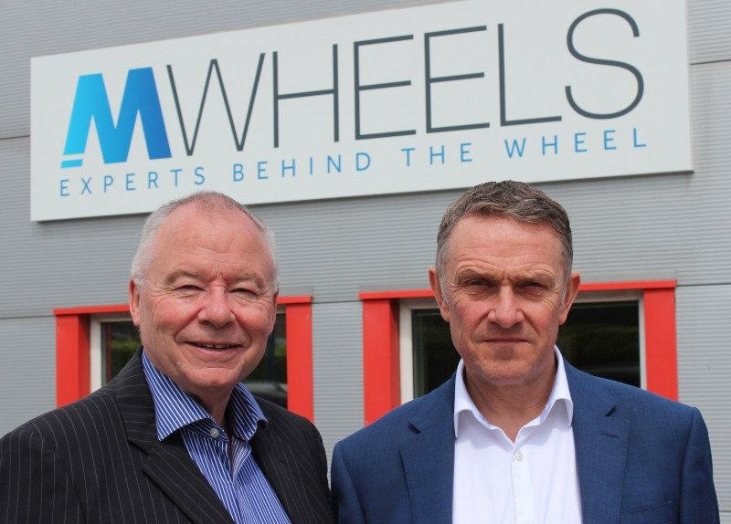 (l-r) John Ellis, chief executive, and Matthew Mardle, chief operating officer of MWheels present the new corporate identity