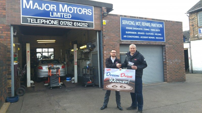 Dave Bailey of Major Motors was one of the promotion's winners