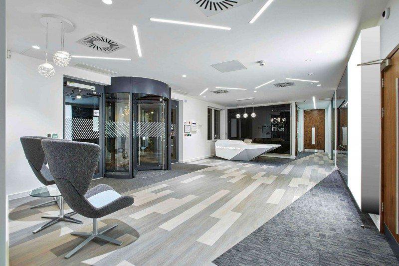 The new GDHQ's reception area