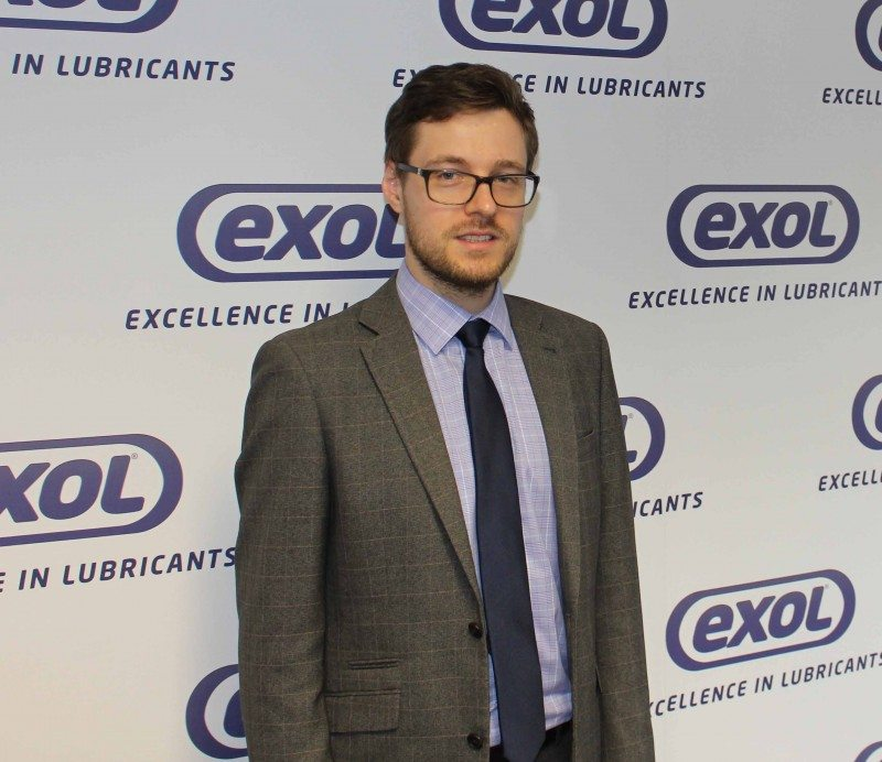 Robert Lundie, Exol Lubricants technical services manager