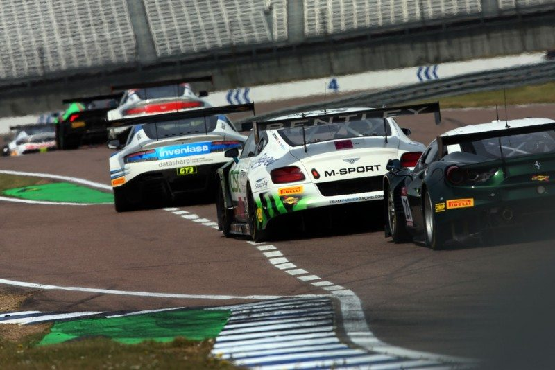 Bentley wins at Rockingham in new Pirelli P Zero DHD's first British GT endurance race