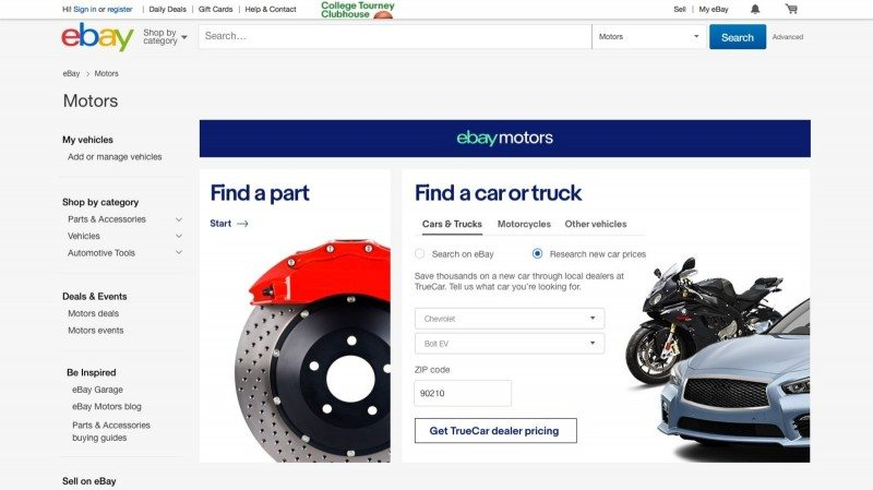 eBay Motors will initially offer tyre fitting to motorists in Germany before rolling out the service in the US market this summer
