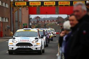 The Pirelli International Rally starts at the manufacturer's Carlisle factory
