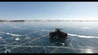 Mitas tyres exploring frozen Lake Baikal