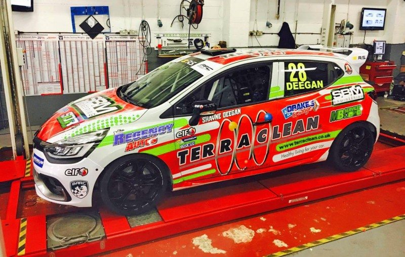 TerraClean network unites to bring Deegan back to Clio Cup