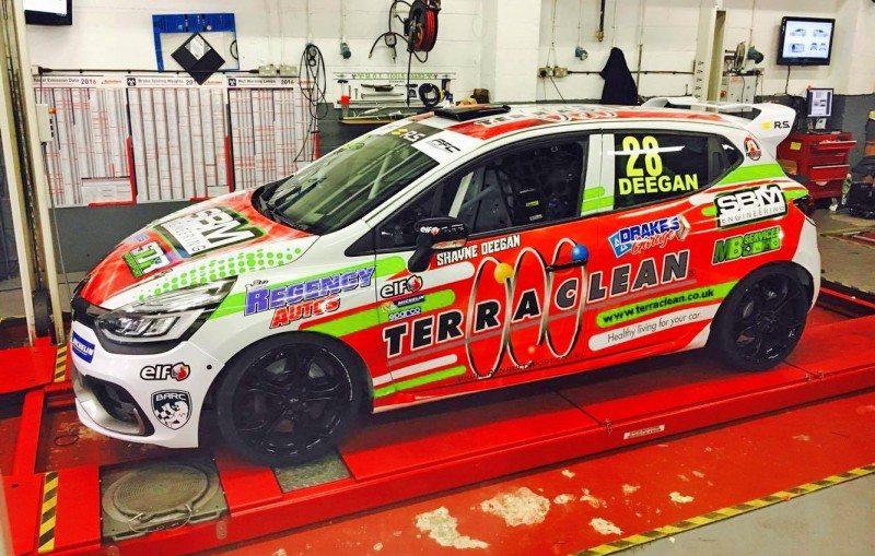 Shayne Deegan of SDR Motorsport displays his Terraclean-supported car