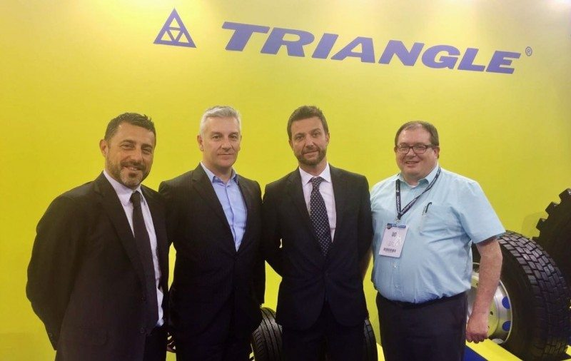 (left to right): Angelo Giannangeli, European marketing director; Corrado Moglia, general manager – Europe; Mirco Spiniella, European marketing director; and John Ruddy, European OTR Manager