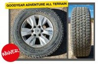 First tyre test win for Goodyear Wrangler All-Terrain Adventure