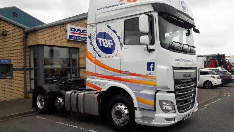 TBF Thompson's new DAF XF 510 is fitted with Michelin X Multi regional tyres